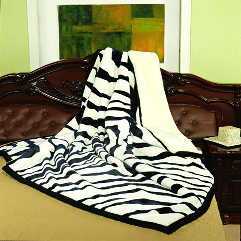 卡斯特罗斑马纹毛毯
