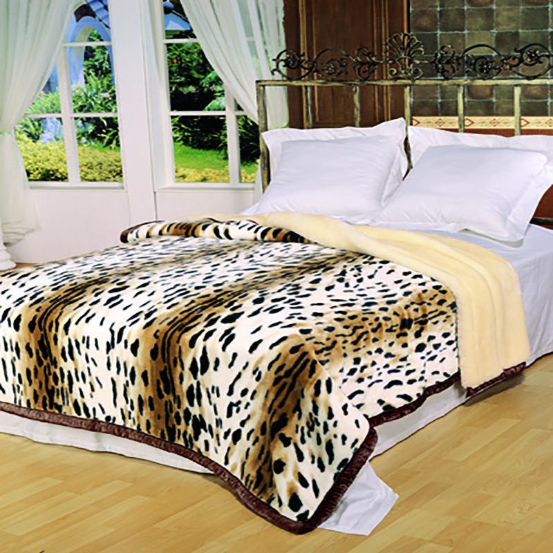 卡斯特罗豹纹毛毯
